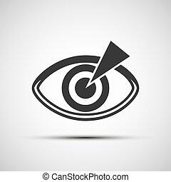 vettore, occhio, umano, icone