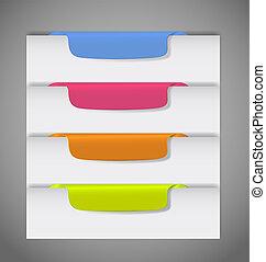 vettore, pagina, bordo, adesivi, illustrazione