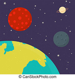 vettore, pianeti, sistema solare