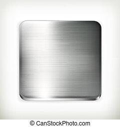 vettore, piastra metallo