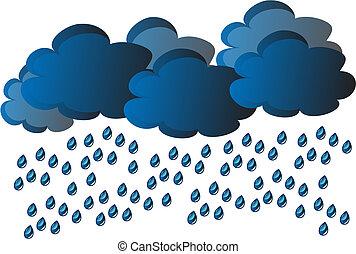 vettore, pioggia