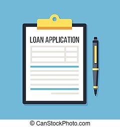 vettore, prestito, form., domanda, penna, appunti