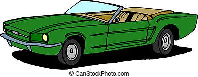 vettore, retro, automobile