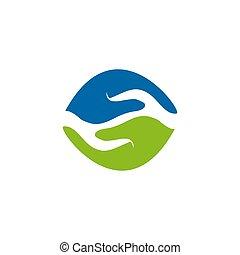 vettore, sagoma, logotipo, disegno, illustrazione, mani