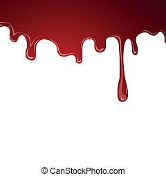 vettore, sangue, fluente