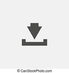 vettore, scaricare, nero, color., icona, eps10, illustrazione