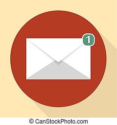 vettore, segno, email