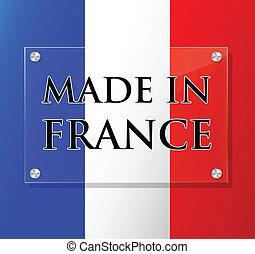 vettore, segno, fatto, francia