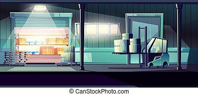 vettore, servizio, magazzino, consegna, concetto, 24-h