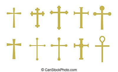vettore, set, croce, cristiano