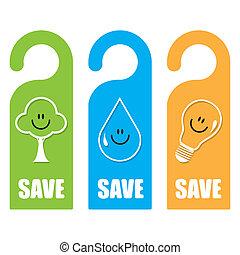vettore, simbolico, concetto, risparmio, mondo