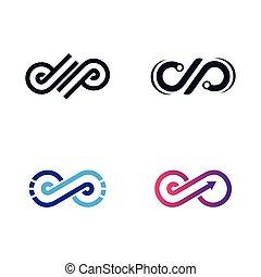 vettore, simbolo, infinità, icona