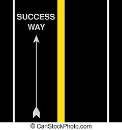 vettore, strada, successo, strada