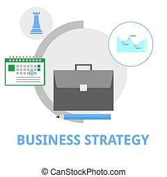 vettore, -, strategia affari