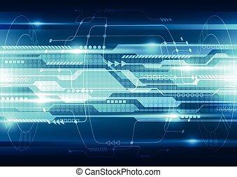 vettore, tecnologia, astratto, sistema, illustrazione, fondo, futuro, velocità