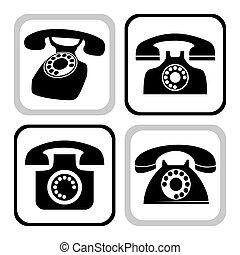 vettore, telefono, collezione