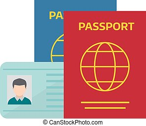 vettore, tickets., illustrazione, passaporto
