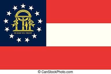 vettore, unito, state., stati, bandiera, georgia, america