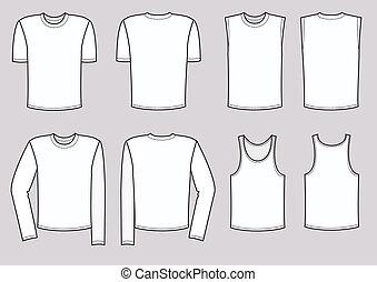 vettore, uomini, abbigliamento, illustration., vestiti