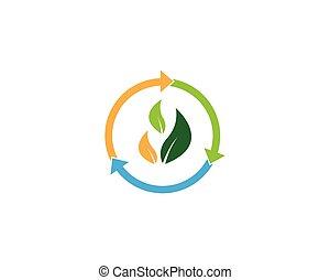 vettore, verde, icona, andare, illustrazione