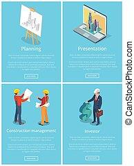vettore, web, pianificazione, collezione, illustrazione