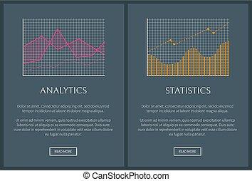 vettore, web, statistica, illustrazione, analytics