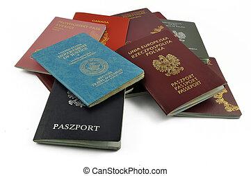 viaggiare, altro, documenti, isolato
