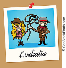 viaggiare, australia, polaroid, persone