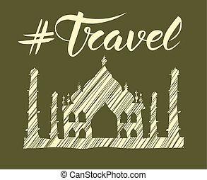 viaggiare, concetto, monumento
