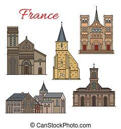 viaggiare, francese, havre, architettura, punto di riferimento, icona