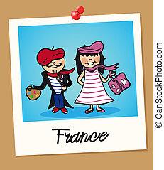 viaggiare, francia, polaroid, persone