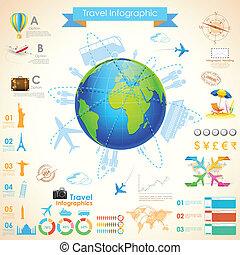 viaggiare, infographic, grafico