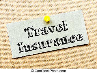 viaggiare, messaggio, assicurazione