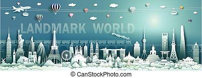 viaggiare, moderno, limiti, antico, mondo, architecture.