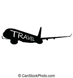 viaggiare, parola, esso, aeroplano