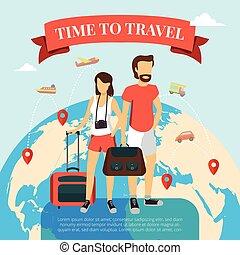 viaggiare, tempo, appartamento