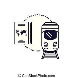 viaggiare, treno, documento, passaporto