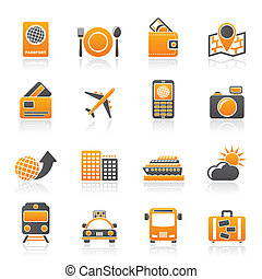 viaggiare, vacanza, icone