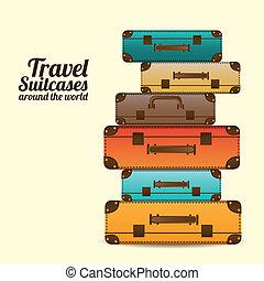 viaggiare, valigie