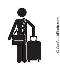 viaggiatore, disegno