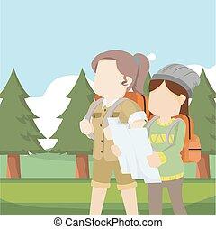 viaggiatore, esploratore, femmina