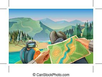 viaggiatore, mappa