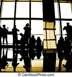 viaggiatore, silhouette