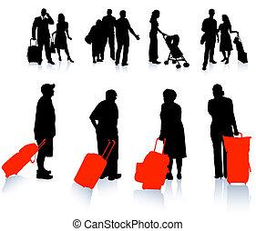 viaggiatore, silhouette, collezione