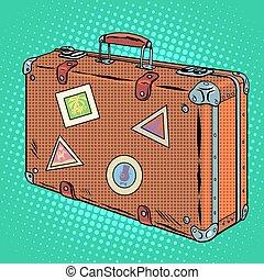 viaggiatore, valigia, bagaglio