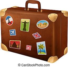 viaggiatore, valigia