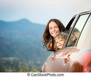 viaggio automobile, famiglia
