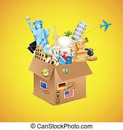viaggio mondo, pacchetto