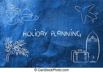 viaggio vacanza, pianificazione, industry:, prenotazione