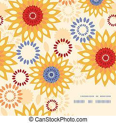 vibrante, astratto, riscaldare, motivi dello sfondo, floreale, angolo, cornice